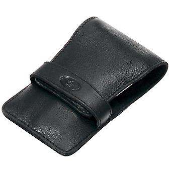 Manicure case bag manicure case nappa leather Black 4 piece