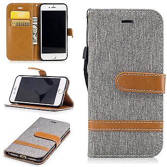7 ジーンズ カバー アップル iPhone ケース セル保護スリーブ ケース グラウ