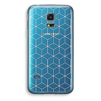 Samsung Galaxy S5 Mini transparentes Gehäuse (Soft) - Würfel schwarz / weiß