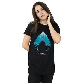 شعار المحيطات Aquaman صديقها تناسب تي شيرت دي سي كوميكس المرأة