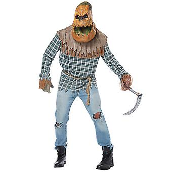 Hunted Harvest Pumpkin Monster Psycho Lantern Big Mouth Horror Mens Costume