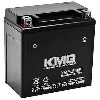 12V Battery for Honda 450 TRX450 FourTrax Foreman S ES 1998-2004 YTX14-BS Sealed Maintenance Free Battery High Performance 12V SMF Replacement Powersport Battery