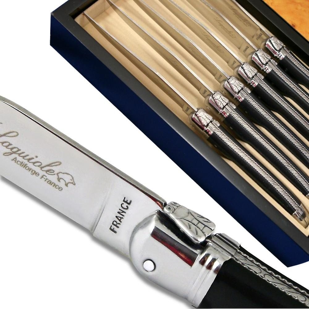 Laguiole steak knives ABS luxury black Direct from France