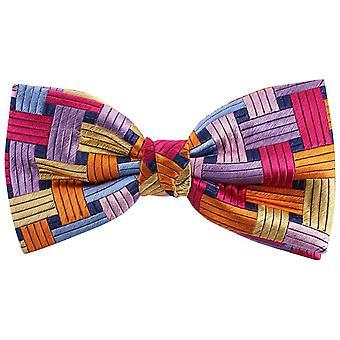 Knightsbridge Neckwear rektangler silke sløyfe - multi-farge