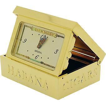 Cadeau producten Cigar Box miniatuur prikklok - goud