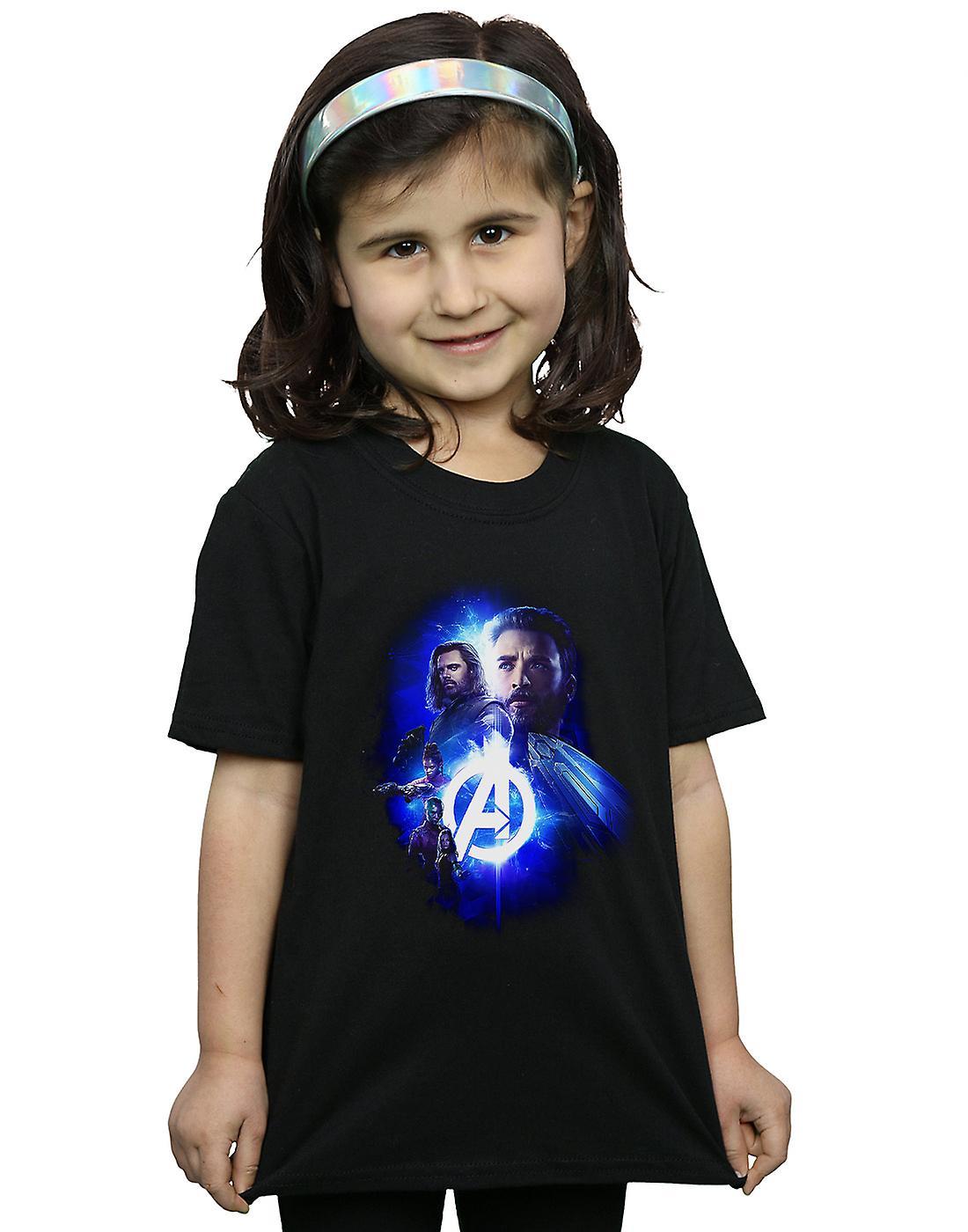 Marvel Girls Avengers Infinity War Cap Bucky Team Up T-Shirt