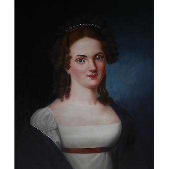Tyttö, öljy maalaus kankaalle, 50x60 cm