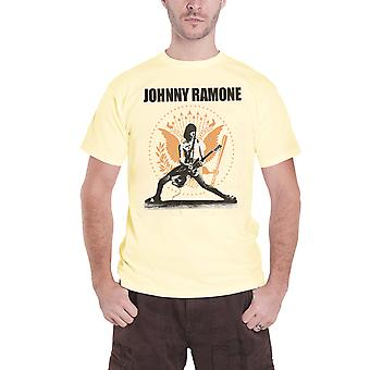 Ramones T Shirt Johnny Ramone Rockin Seal band logo new Official Mens Gold