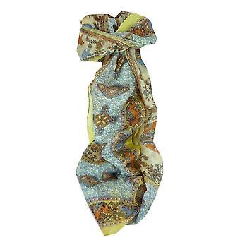 Mulberry jedwabiu tradycyjny długi szalik Rei złota przez Pashmina & Silk