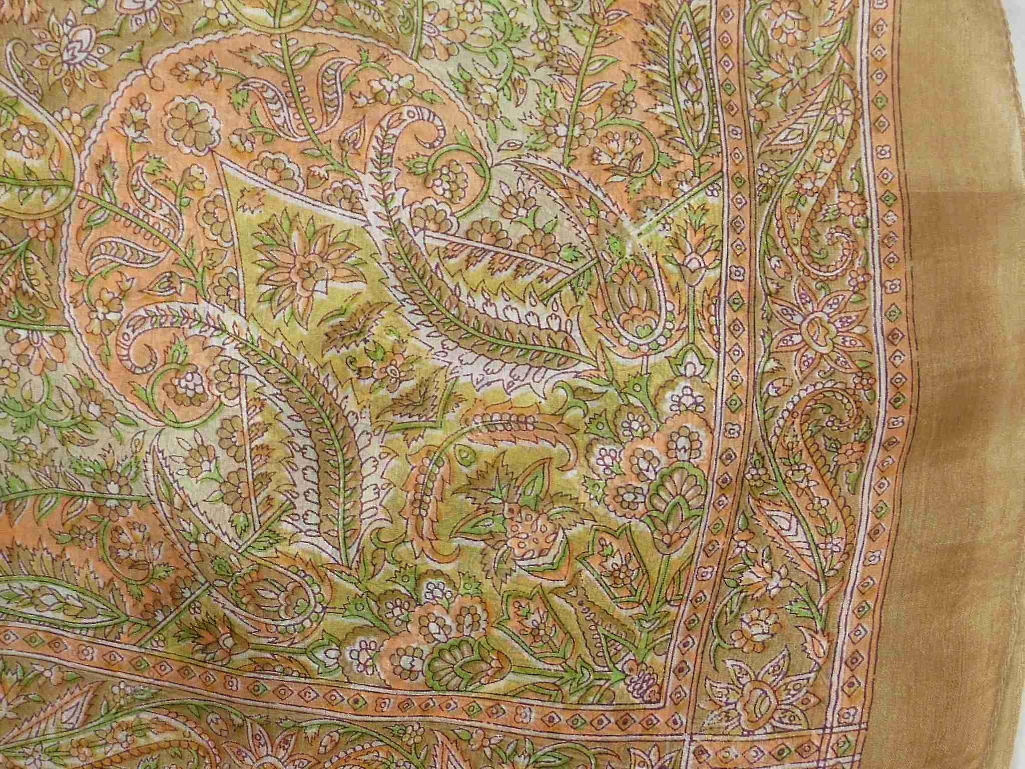 Mulberry Silk Traditional Square Scarf Kiara Sand by Pashmina & Silk
