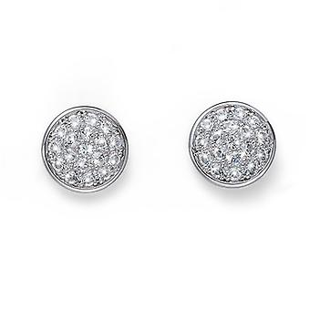Oliver Weber Post Earring Pin Rhodium Crystal