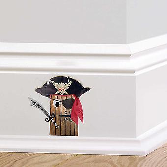 Full farge pirat døren Wall klistremerke