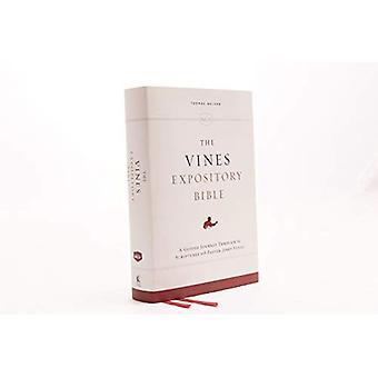 NKJV, la Bibbia espositiva Vines, panno fuori bordo, lettera rossa edizione