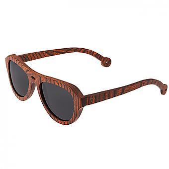 Spectrum Stroud Wood Polarized Sunglasses - Orange/Black