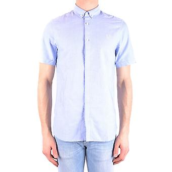 Fred Perry Ezbc094035 Men's Light Blue Cotton Shirt