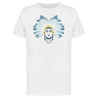 Native American Indian Head Tee mężczyzn-obraz przez Shutterstock