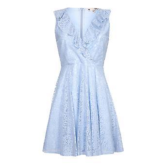 Yumi Womens/Ladies Ruffle V Neck Dress