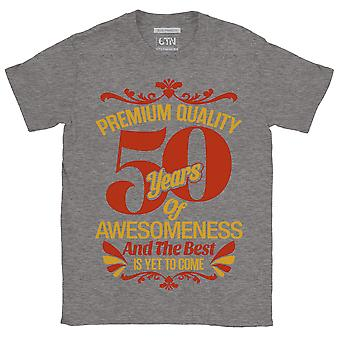 50 years of awesome and the best is yet to come 50th birthday t shirt