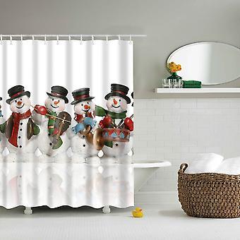 Douche gordijn-vier sneeuwpoppen