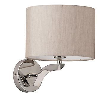 Glasberg - Chrome Wall Lamp With Beige Fabric Shade 626020101