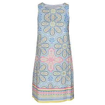 London Times Daisy Print Sleeveless Sun Dress