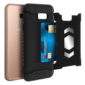 Shockproof Hybrid Protection Case, Samsung Galaxy J4 Plus Forcell Black