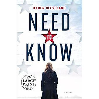 Need to Know by Karen Cleveland - 9780525587828 Book