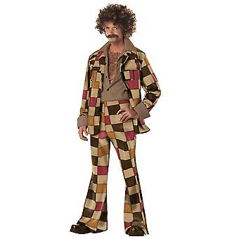 Disco Sleazeball 60s 70s Leisure Suit mannen kostuum