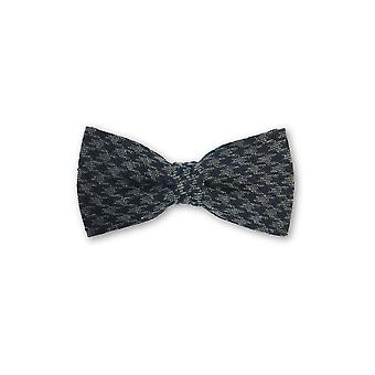 Olymp pre tied bow tie in grey hounds tooth pattern