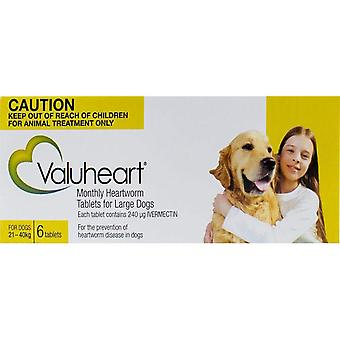 Valuheart Gold Dogs 21-40kg (46-88lbs) - 6 Chewables