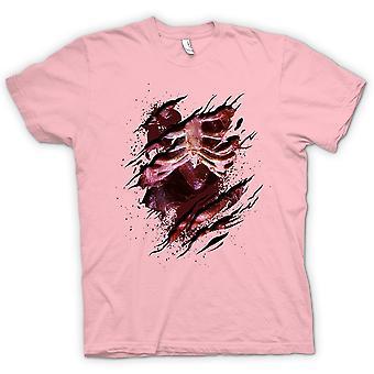 Koszulka męska - szkielet serca nieumarłych Zombie zgrywanie Design