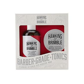 Hawkins & Brimble Haircare gift set 2PC (shampoo & water pommade)