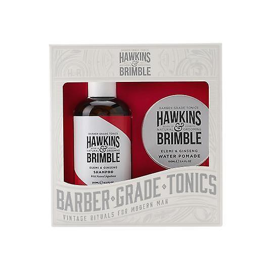 Hawkins & Brimble Haircare Gift Set 2pc (Shampoo & Water Pomade)