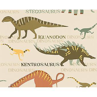 A.S. Creazione AS Creazione Dinosauro Modello Jurassic Raptor Bambini Wallpaper 936331