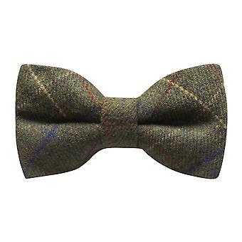 Erfgoed Check regentschap groene strikje, Tweed Bowtie