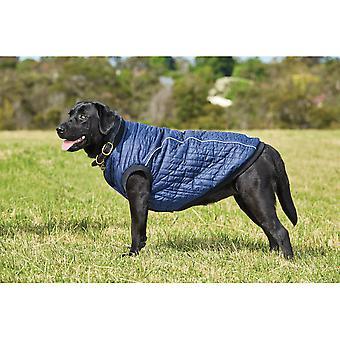Manteau de chien de puffer de Weatherbeeta - bleu marine