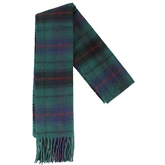 Locharron of Scotland Davidson Modern Lambswool Scarf - Green/Navy/Red