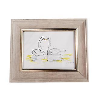 Sweet Pea Designs Loving Swans Print 8x6