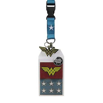 Wonder Woman Suit-Up Lanyard con encanto de metal