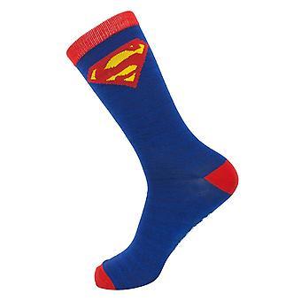 Superman kostuum crew sokken