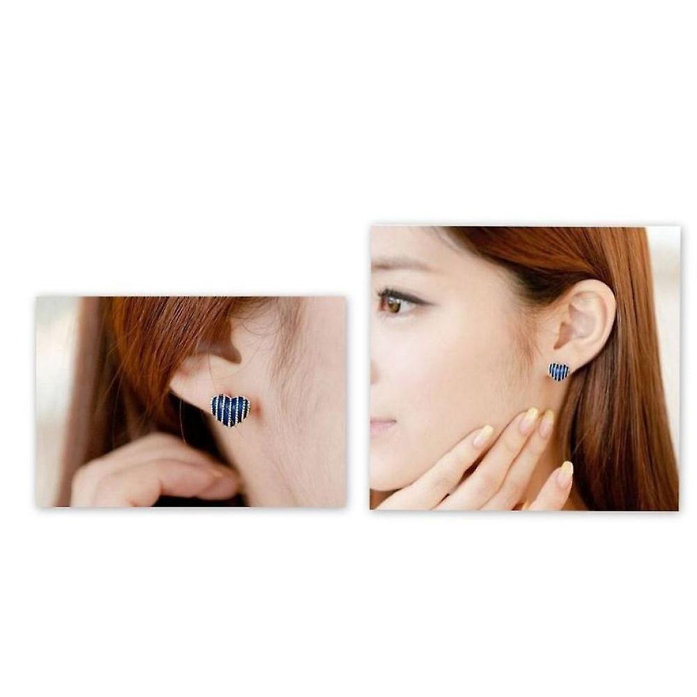 Earrings-Hearts, Black (1-pair)