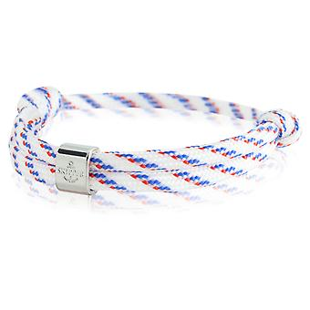 Skipper bracelet surfeur bande nœud maritimes bracelet blanc/bleu/rouge 6795
