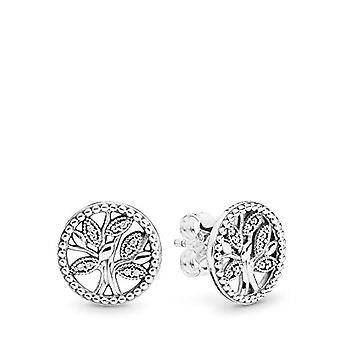 Pandora Woman Silver Stud Earrings 297843CZ