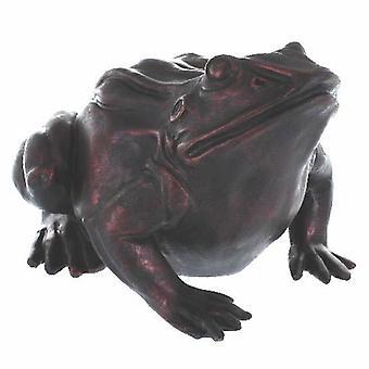 Frog Moon Gazing Extra Large Bronze Effect