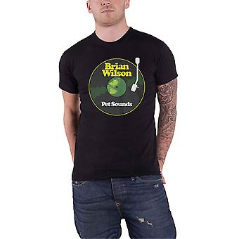 Brian Wilson T Shirt Pet Sounds Band Logo neue offizielle Herren Schwarz