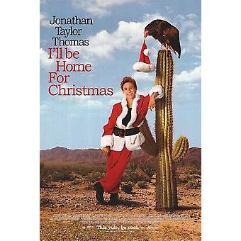 I & apos;Ll يكون المنزل لعيد الميلاد (مزدوجة من جانب العادية) (1998) ملصق السينما الأصلي