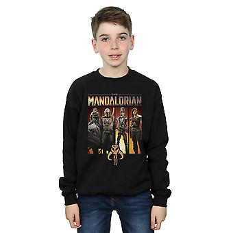 Star Wars Boys The Mandalorian Character Lineup Sweatshirt