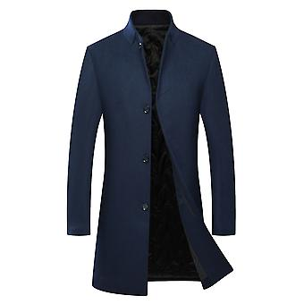 Allthemen Men's Slim Fit Thick Warm Autumn&Winter Wool Overcoat