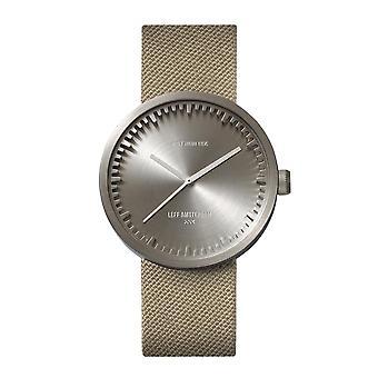 Leff Amsterdam LT71003 D38 Steel Tube Sand Cordura Wristwatch
