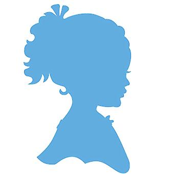 Marianne Design Silhouette Girl with Ponytail Creatables Die, Blue